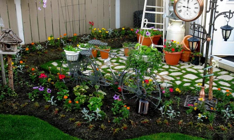 Идеи садовых участков своими руками