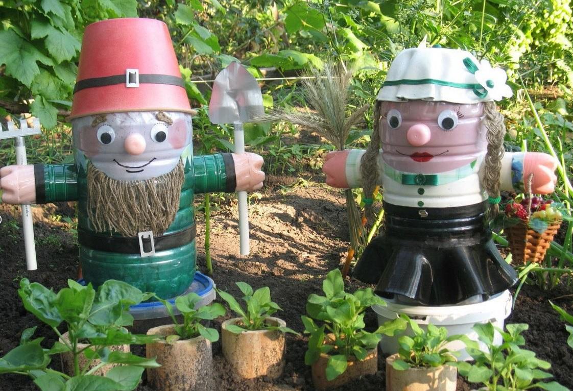 Поделки из пластиковых бутылок для сада и огорода павлина