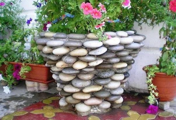 Клумба из камня своими руками
