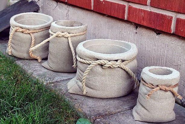 Поделки из цемента для сада