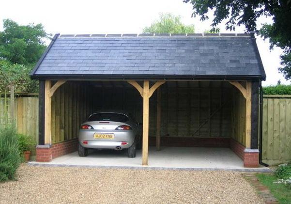 как выбрать место для гаража на даче