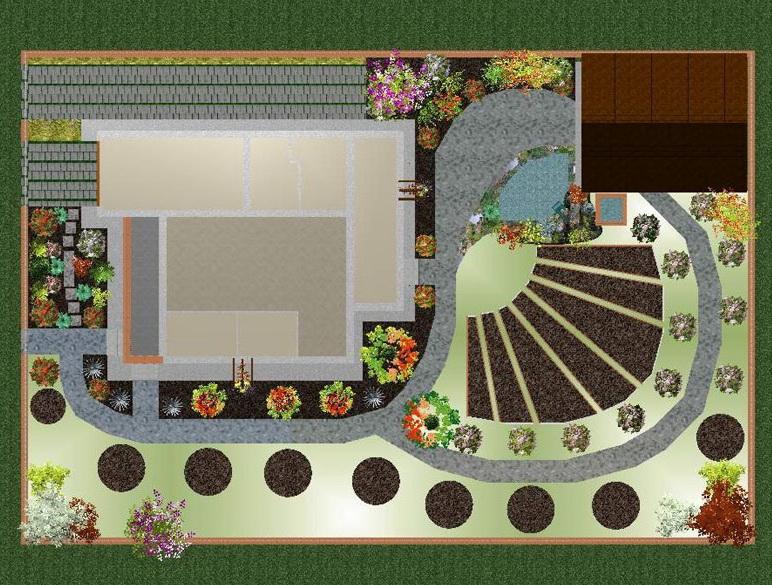 Планировка огорода и сада